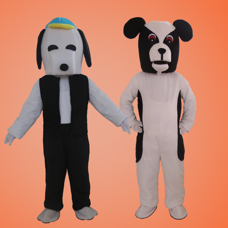 White Dog Mascot Costume Suits Adult Size Halloween Cosplay Party Game Dress Outfits