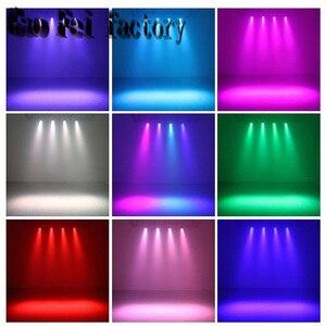 4 шт./лот, сценический свет, 12x3 Вт, плоский LED Par RGBW, DMX512, диско-лампа, KTV бар, подсветка, лазерный луч, проектор, Dmx контроллер, прожекторы
