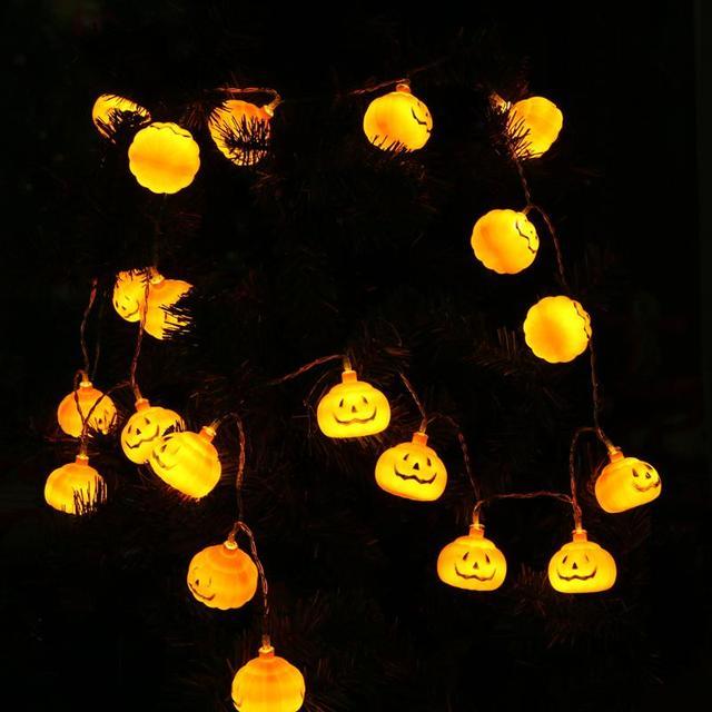 Halloween Verlichting.Us 9 19 20 Led Pompoen Fairy String Halloween Verlichting Batterij Aangedreven String Licht Tuin Party Kerstboom Woondecoratie Licht In 20 Led
