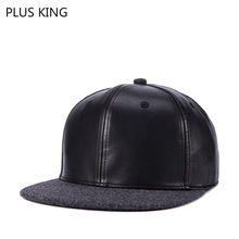 High Quality Autumn Winter Thickened Wool and Faux Leather Hip Hop Hat