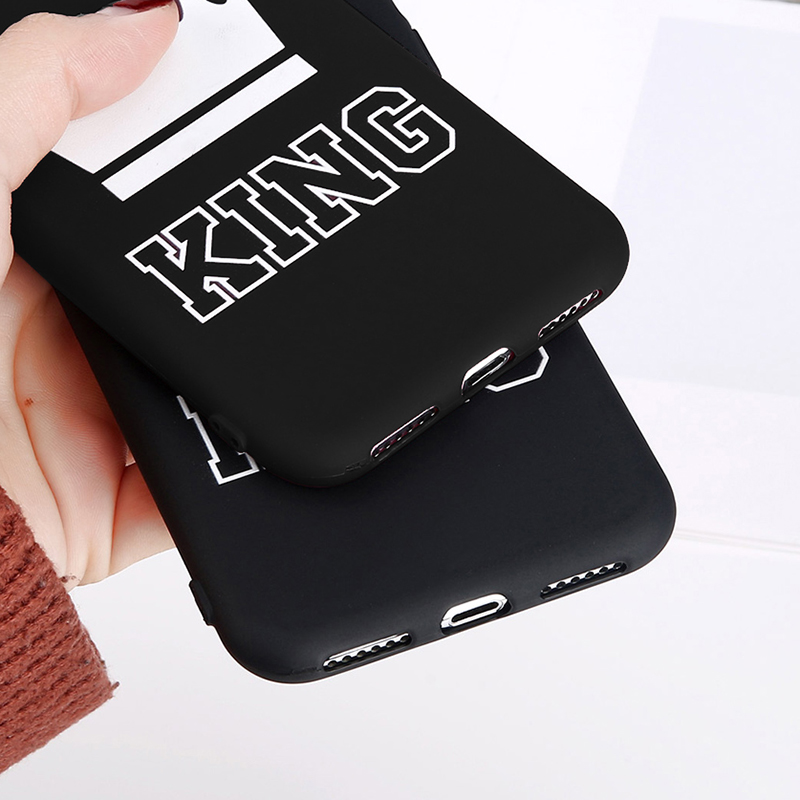 King Queen Crown Phone Case For iphone XR XS Max X 8 7 6 6s Plus Case Fashion Stylish Soft TPU Cover For iphone 5 5s SE Silicon (2)