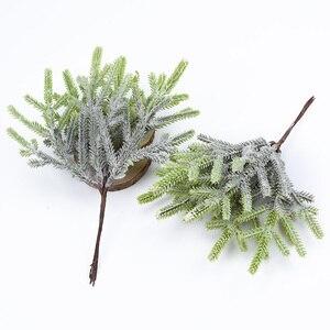Image 4 - 6 pcs artificiale piante finte piante di pino vasi di natale decorazioni per la casa contenitore di regali di nozze fai da te corona scrapbooking fiori di plastica