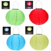 4pcs 30CM Waterproof Solar Lantern Solar Outdoor Hanging Lights LED Holiday Lights Hanging Lantern Chinese Celebration