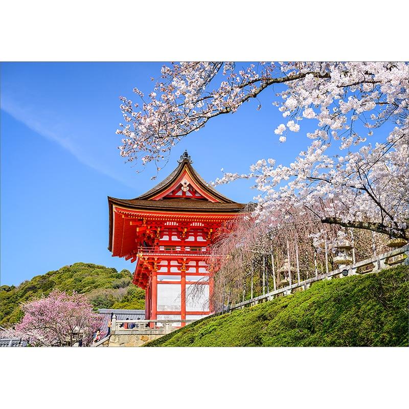 Funnytree Background For Photo Studio Japanese Sakura Building Blossom Sky Tree Backdrop Photography Photobooth Photo Prop Backgrounds For Photo Studio Background For Photobackdrop Photography Aliexpress