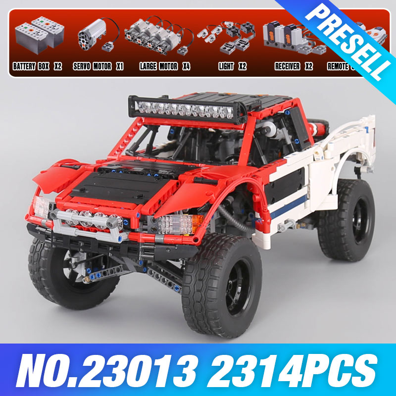 Lepin 23013 Genuine 2314Pcs Technic Series The Remote-Control Off-road Car Set Building Blocks Bricks Funny Toys As Kids Gifts lepin 20054 4237pcs the moc technic series the remote control t1 classic volkswagen camper set 10220 building blocks bricks toys