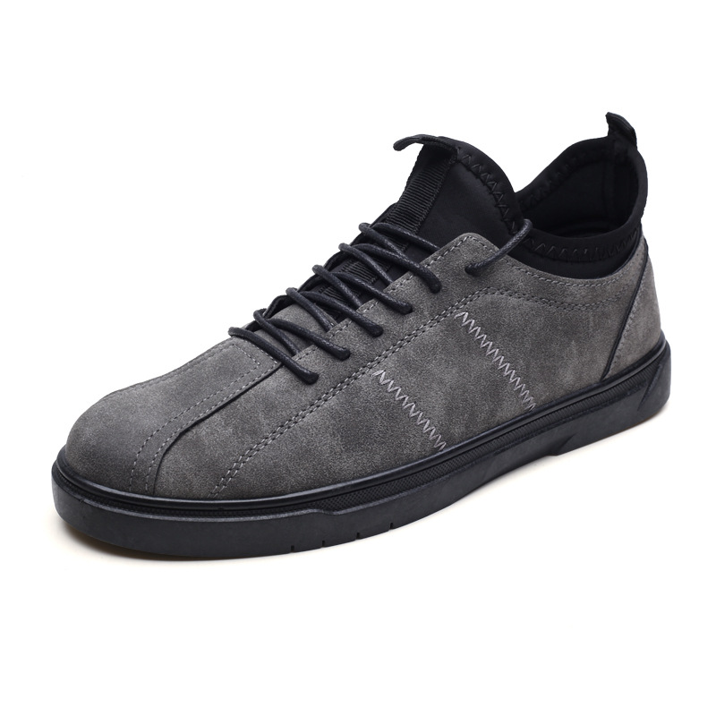 Sneakers À Respirant gris Mode Lacets Hommes Printemps Totem Décontractées Pu Noir Chaussures jaune Solide Bas Vulcaniser Concise De Peu Automne Profonde qHwqPzZ