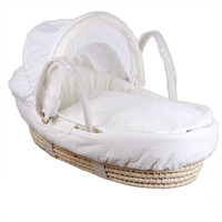 Newborn baby cradle crib baby cradle sleep basket wave portable baby cradle solid wood bed corn husk baby basket