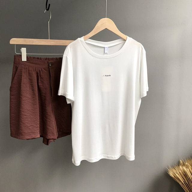 Women T shirt Cotton Casual For Lady Top Tee 3