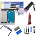 For Samsung Galaxy S3 9300 Replacement Screen Front Glass Repair Kit  UV TORCH