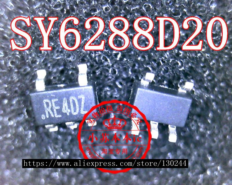 1pcs/lot SY6288D20 SY6288D20AAC RE4DZ RE4 SOT23-5