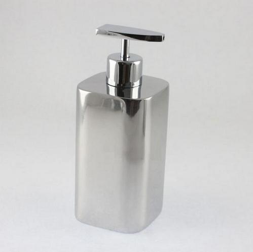 450ml Stainless steel lotion bottle empty liquid soap pump bottle refillable shampoo container Free shipping