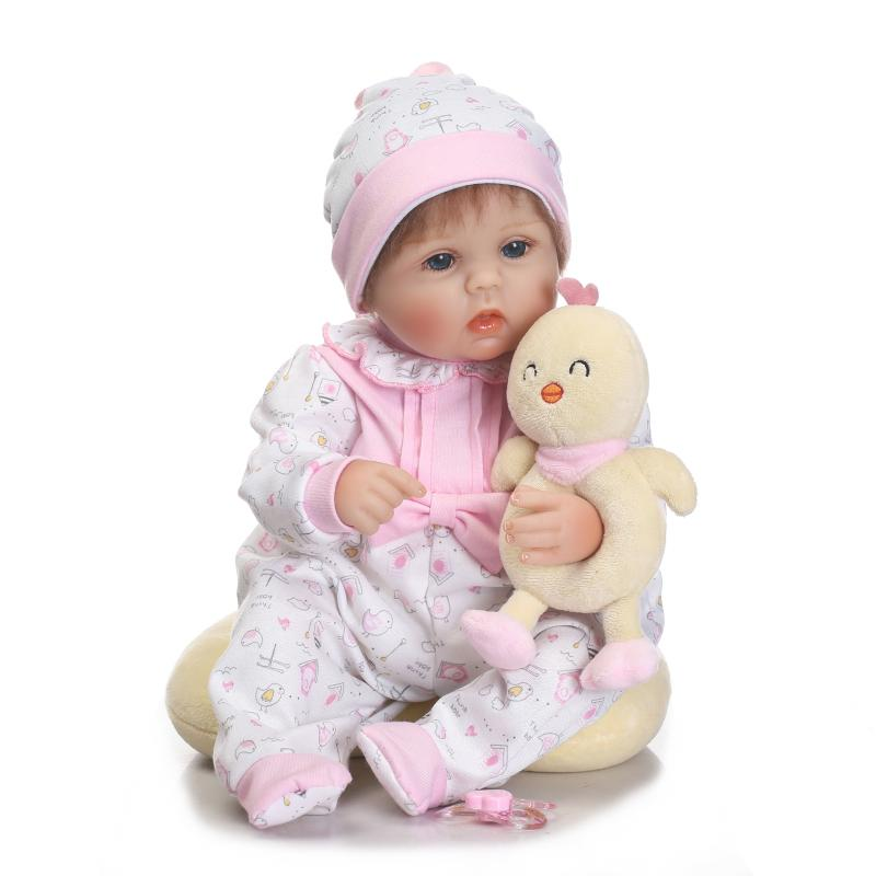 50cm reborn baby dolls soft silicone realistic reborn dolls babies newborn girls Toys With Clothes Kids Birthday Gifts Bonecas globo светильник настенный yuan