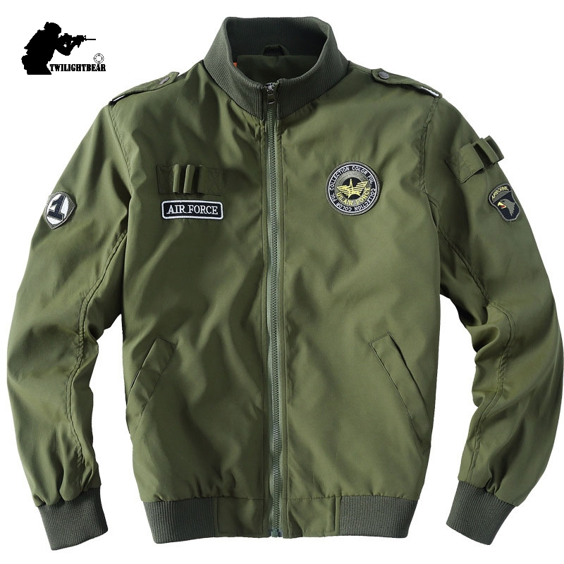 Thin Jacket Air-Force Outwear Stand-Collar Coat Men Military Men's Plus-Size Fashion