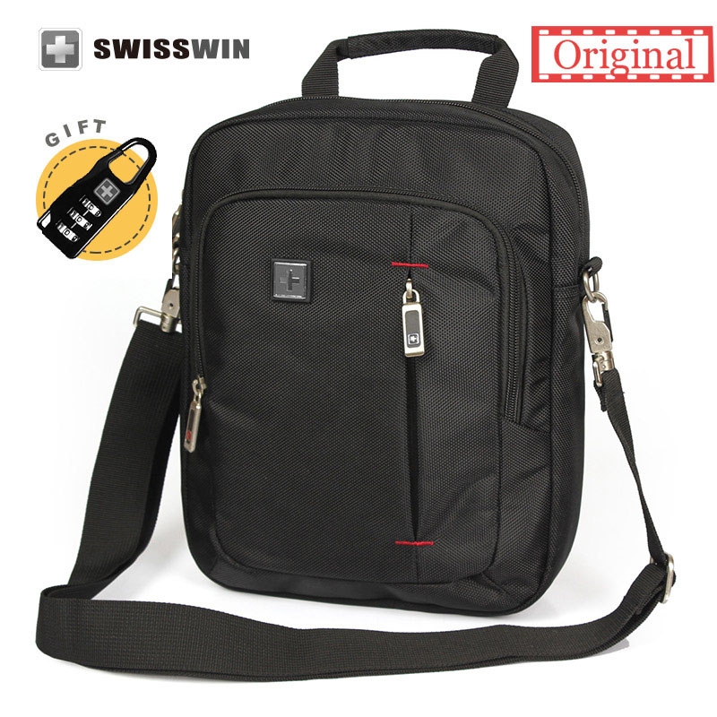 Swiss Brand Small Shoulder Bag for Men Daily Messenger Bag for Phones and 11 Tablets Unisex Vintage Crossbody Bag Satchels bag japanese pouch small hand carry green canvas heat preservation lunch box bag for men and women shopping mama bag