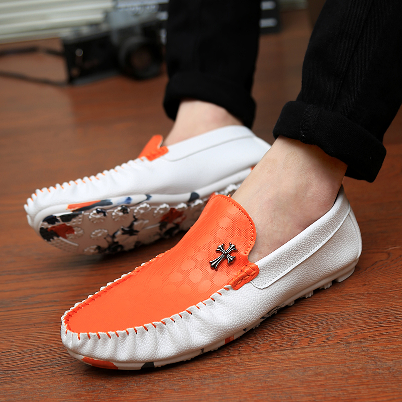 Summer male casual shoes loafers gommini genuine leather fashion breathable sailing lazy - Loved God Good Store store