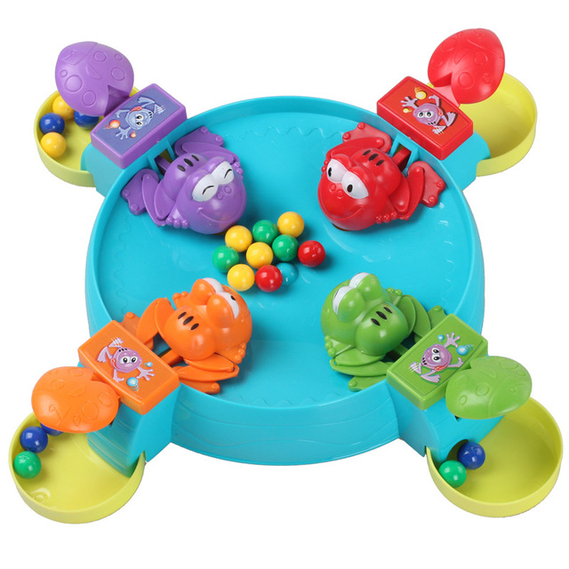 New Design Kids Toys Table Family Game Frog Ball Education Intelligence Toys Colorful Funny Kids Toys D244