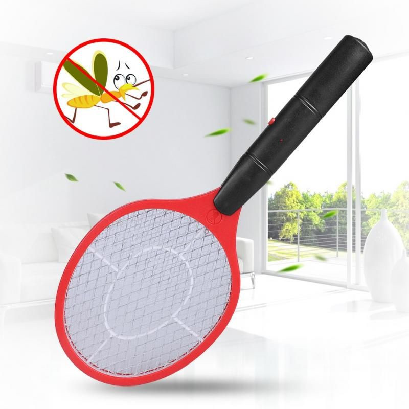 Image 4 - Home Electric Fly Mosquito Swatter Mosquito Killer Bug Zapper Racket Insects Killer Cordless Battery Power Mosquito Trap Swatter-in Repellents from Home & Garden
