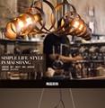 Luzes pingente industrial loft retro forjado pingente de ferro lâmpadas cafe restaurante luminária suspensão luz l750mm free grátis