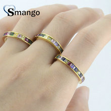 5Pieces,Women Fashion Jewelry,The Rainbow Series Rings,Gold Colors,Can Wholesale