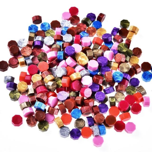 Vintage Octagon Sealing Wax Tablet Pill Beads For Wedding Invitation Envelopes Wax Seal Sticks Ancient Sealing Waxs H1