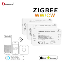 GLEDOPTO ZIGBEE link light zll WW/CW led strip controller rgbw dimmer dc12-24v smart phone app control work with many gateways