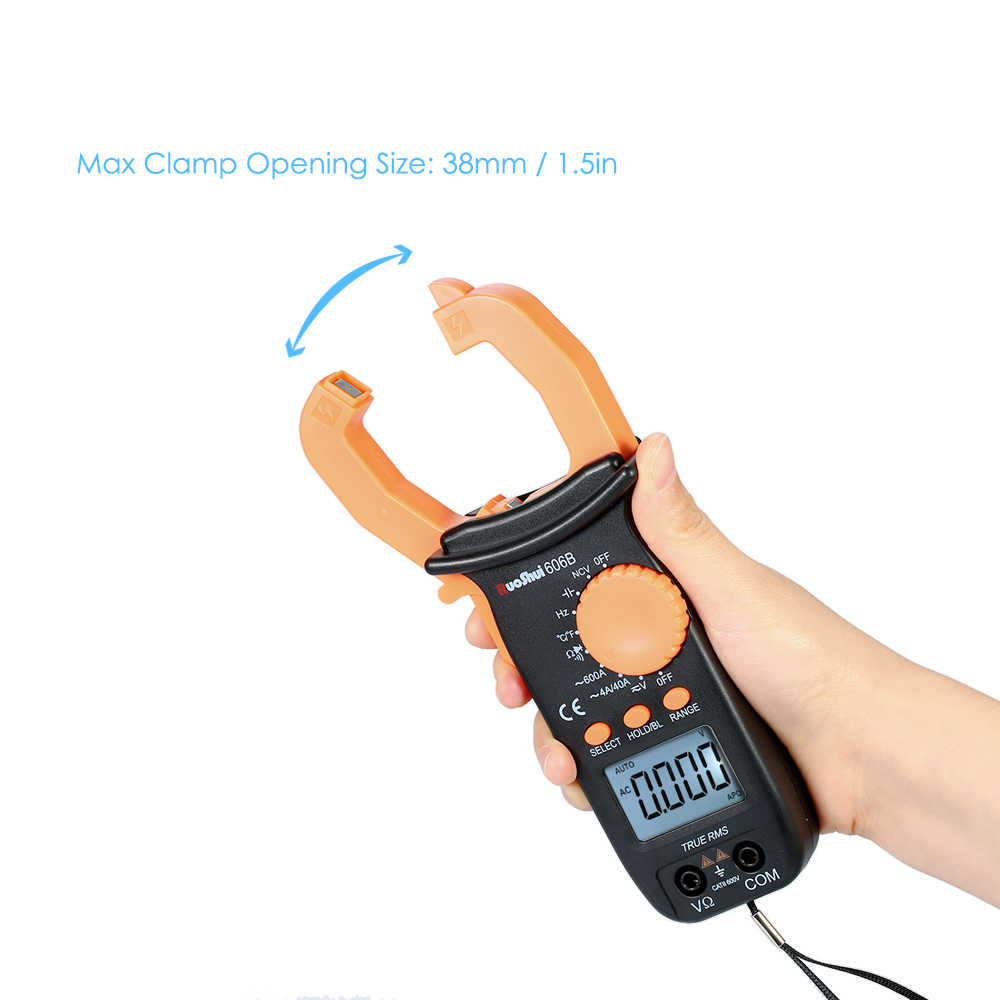 Digital Clamp Meter Multimeter 3999 Hitungan Auto Range Portabel LCD Diaplay Clamp Meter Mengukur AC/DC Voltage Current Tester