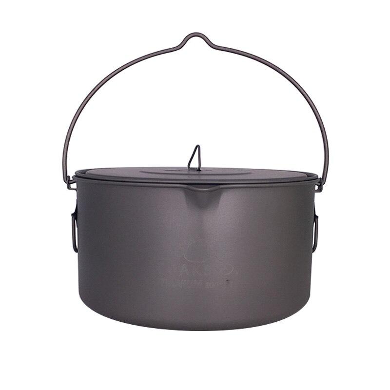 TOAKS Outdoor Camping Cookware Picnic Hang Pot Ultralight Titanium Pot 1600ml or 2000ml6