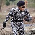 2016 Hombres Del Ejército Al Aire Libre Táctico Militar de Camuflaje Uniforme de Combate Del Ejército Traje de Camuflaje Del Arbolado Chaqueta + Pantalones 4xl Envío Gratis