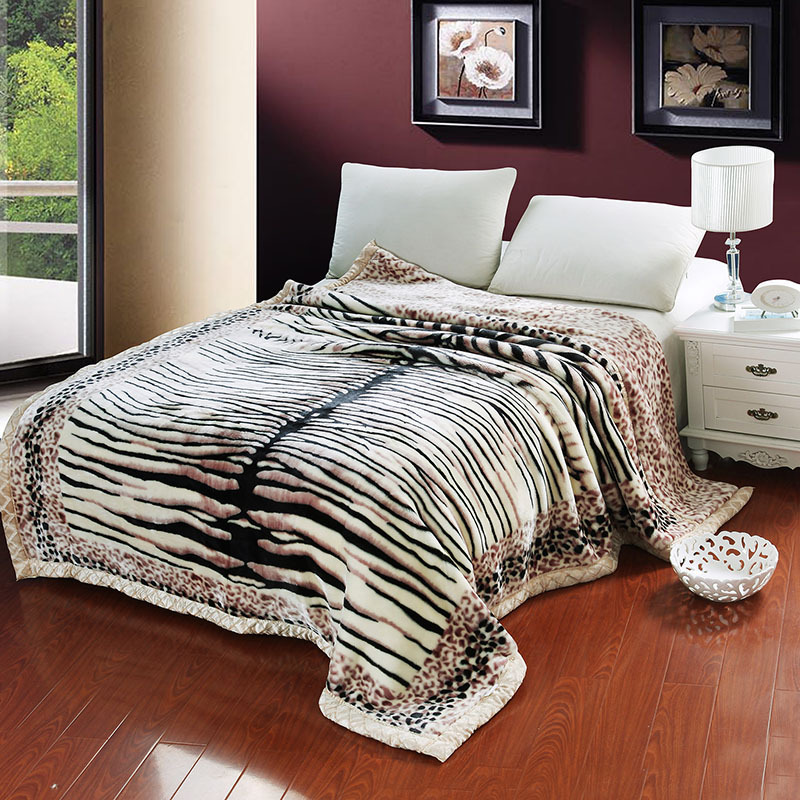 Winter warm silk slip  Chinese style Blanket  twin full queen king size