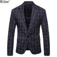 Riinr New Arrival Brand Clothing Autumn Suit Blazer Men Fashion Slim Male Suits Casual Solid Color Masculine Blazer Size M 3XL