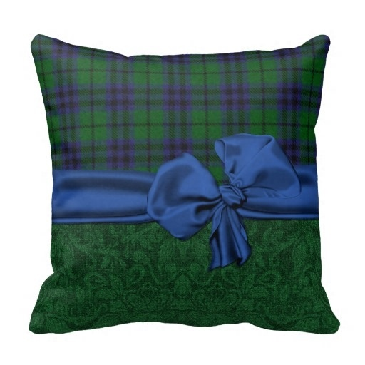 Worse Green Damask And font b Tartan b font Plaid Cushion Cover Size 45x45cm Free Shipping