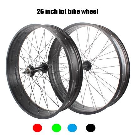 aluminum steel 26 inch 130 135 190 mm beach snow free wheel fat bike wheel
