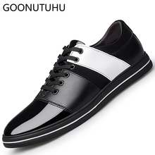 2019 new spring summer mens shoes casual genuine leather cow male fashion stitching shoe man lace up classic flat for men