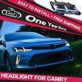 AKD Car Styling Faróis LED Head Lamp para Toyota Camry Novo Guia DRL Daytime Running Luz Do Farol Bi-Xenon Acessórios HID