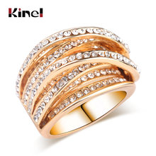 Женское многослойное кольцо kinel винтажное античное золотого