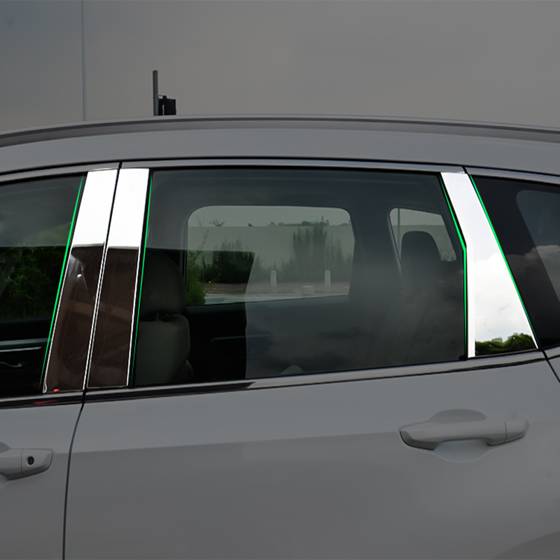 For Honda CRV CR-V 2017 2018 Window Chrome Pillar Post Posts Cover Trim Moulding Bezels Garnish Accent Stainless Steel 6pcsFor Honda CRV CR-V 2017 2018 Window Chrome Pillar Post Posts Cover Trim Moulding Bezels Garnish Accent Stainless Steel 6pcs