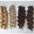 2PCS/LOT New Arrival Doll Accessories Synthetic Doll Wig Hair 25CM Curly Hair For BJD Doll