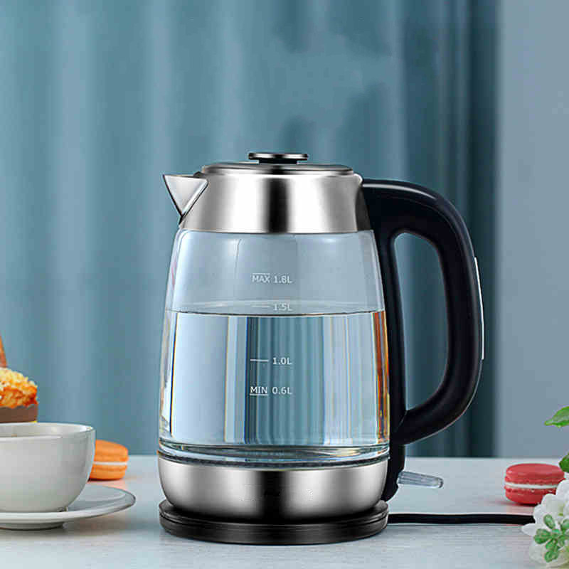 Electric kettle heating glass household automatic power cut small boiled tea 304 stainless steel Safety Auto-Off Function electric heating kettle household 304 stainless steel fast automatic power safety auto off function