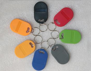 Nr 8 T5577 piloty kolorowe T5577 kopiowanie wielokrotnego zapisu zapisywalne piloty znacznik RFID Key Ring Card 125KHZ Token zbliżeniowy znaczek tanie i dobre opinie W8T5577 2-5cm Bezstykowe Karty ID Odczytu zapisu 51*33*5 9mm Rodanliu Alien Karty Pasywne Karty
