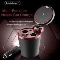 Fast QI Wireless Car Charger Quick Chargers Holder USB Lighters Charging Voltage Detection