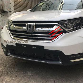 Fit Đối Với Honda CRV CR-V 2017 2018 Front Grill Grille Bìa Trims-3 cái