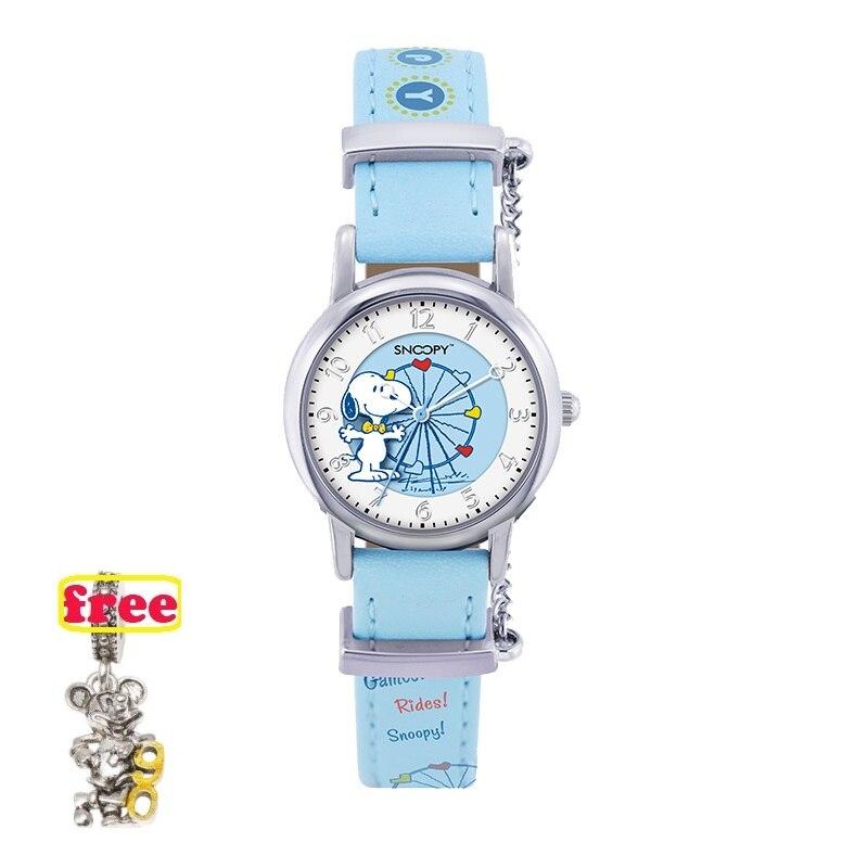 SNOOPY genuine girls New relojes ferris wheel Cartoon Children Watches Fashion Kids Cute japan quartz Watch relogio feminino 800