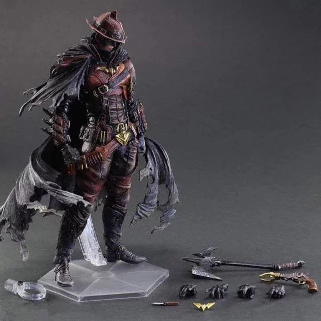 Huong Movie Figure 28 CM SQUARE ENIX Play Arts Painted Figure Steam Punk Cowboy Batman PVC Action Figure Collectible Model Toy huong anime figure 28 cm square enix variant play arts spiderman spider man pvc action figure collectible model toy brinquedos