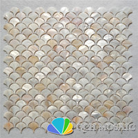 Natural color mother of pearl mosaic tile for kitchen backsplash and bathroom wall tile 11 square feet/lot fan pattern