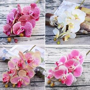 Image 4 - 3D Künstliche Schmetterling Orchidee Blumen Gefälschte Motte flor Orchidee Blume für Home Hochzeit DIY Dekoration Real Touch Home Decor Flore