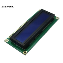 Free Shipping 50PCS LCD1602 1602 module Blue screen 16x2 Character LCD Display Module HD44780 Controller blue blacklight