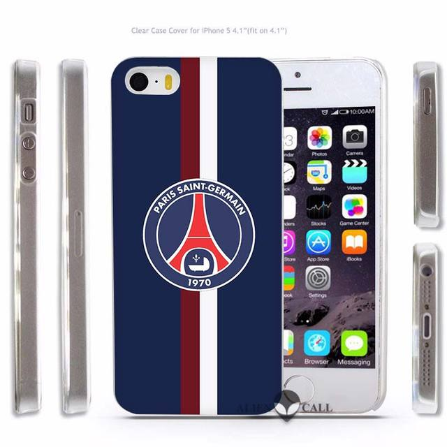 Hot Sale Paris Saint Germain psg Hard Transparent Phone Case Cover Coque for Apple iPhone 4 4s 5 5s SE 5C 6 6s 7 Plus