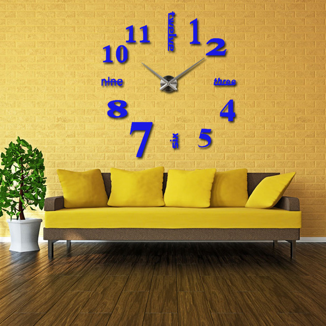 2017   new wall clock watch clocks reloj de pared home decoration 3d acrylic special sticker Living Room Needle