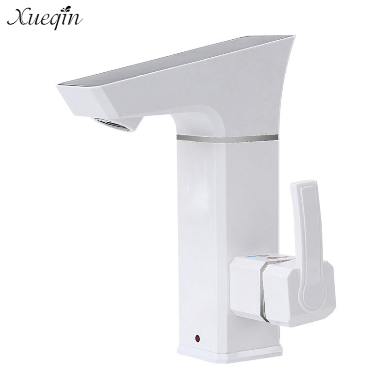 New 3000W Electric Hot Water Heater Tap Instant Tankless Digital Display Large Screen Leakage Protection Shower Bathroom Kitchen