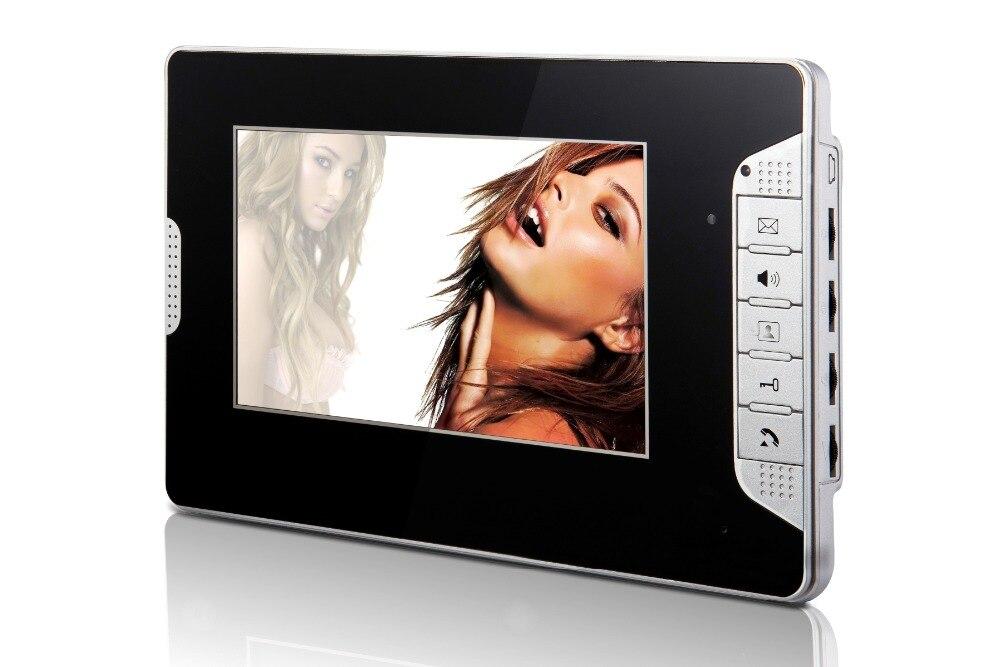 Yobangsecurity черный 7 дюймов Цвет TFT ЖК-дисплей Экран Мониторы проводной видео Дверные звонки Камера Системы для дома квартиры